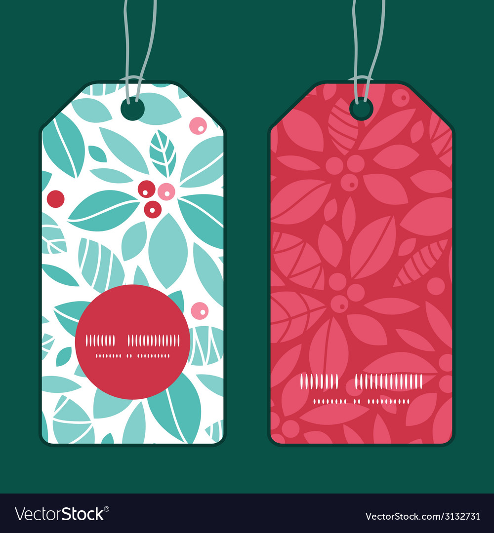 Christmas holly berries vertical round frame vector