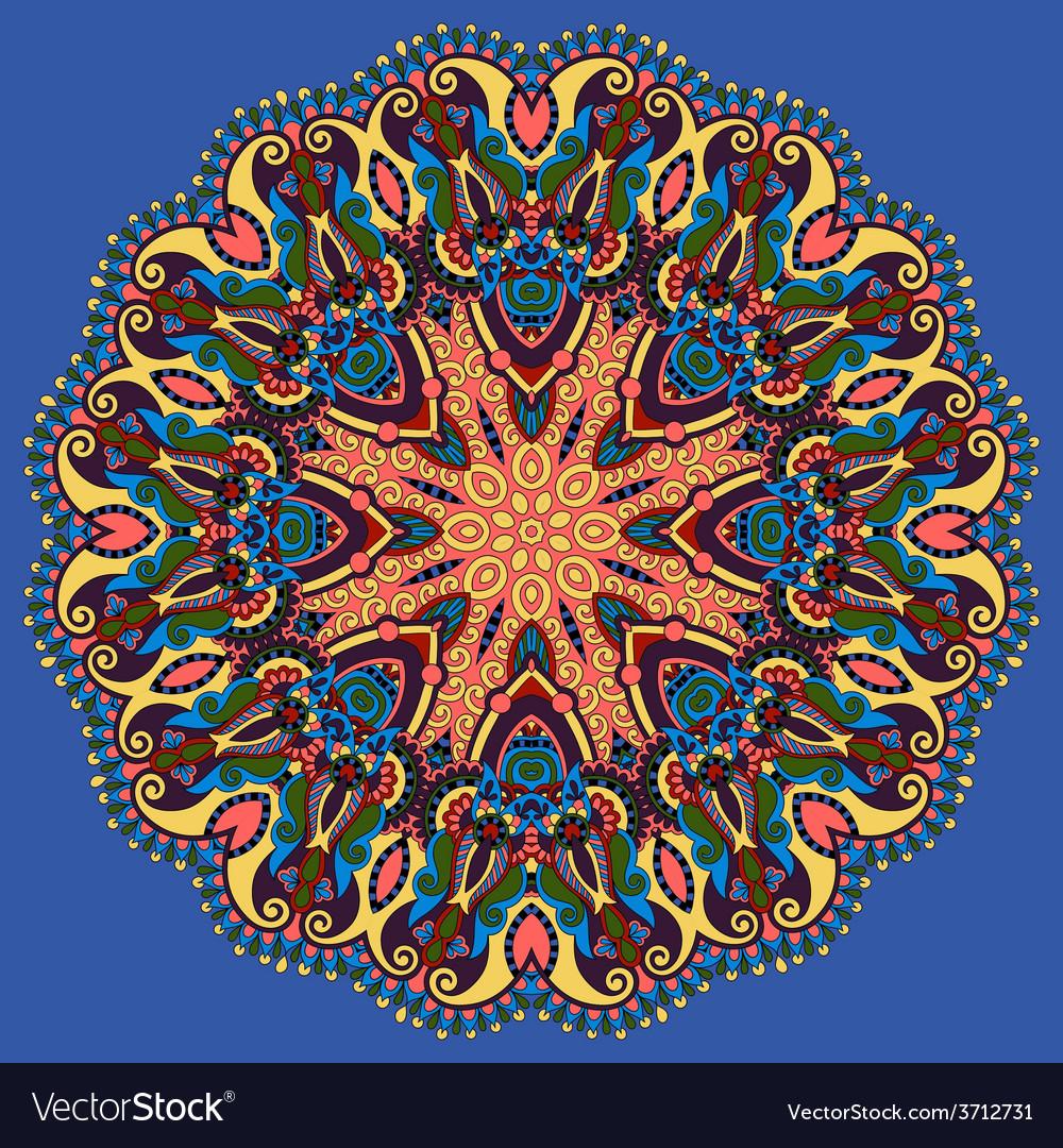 Vintage circular pattern of arabesques vector