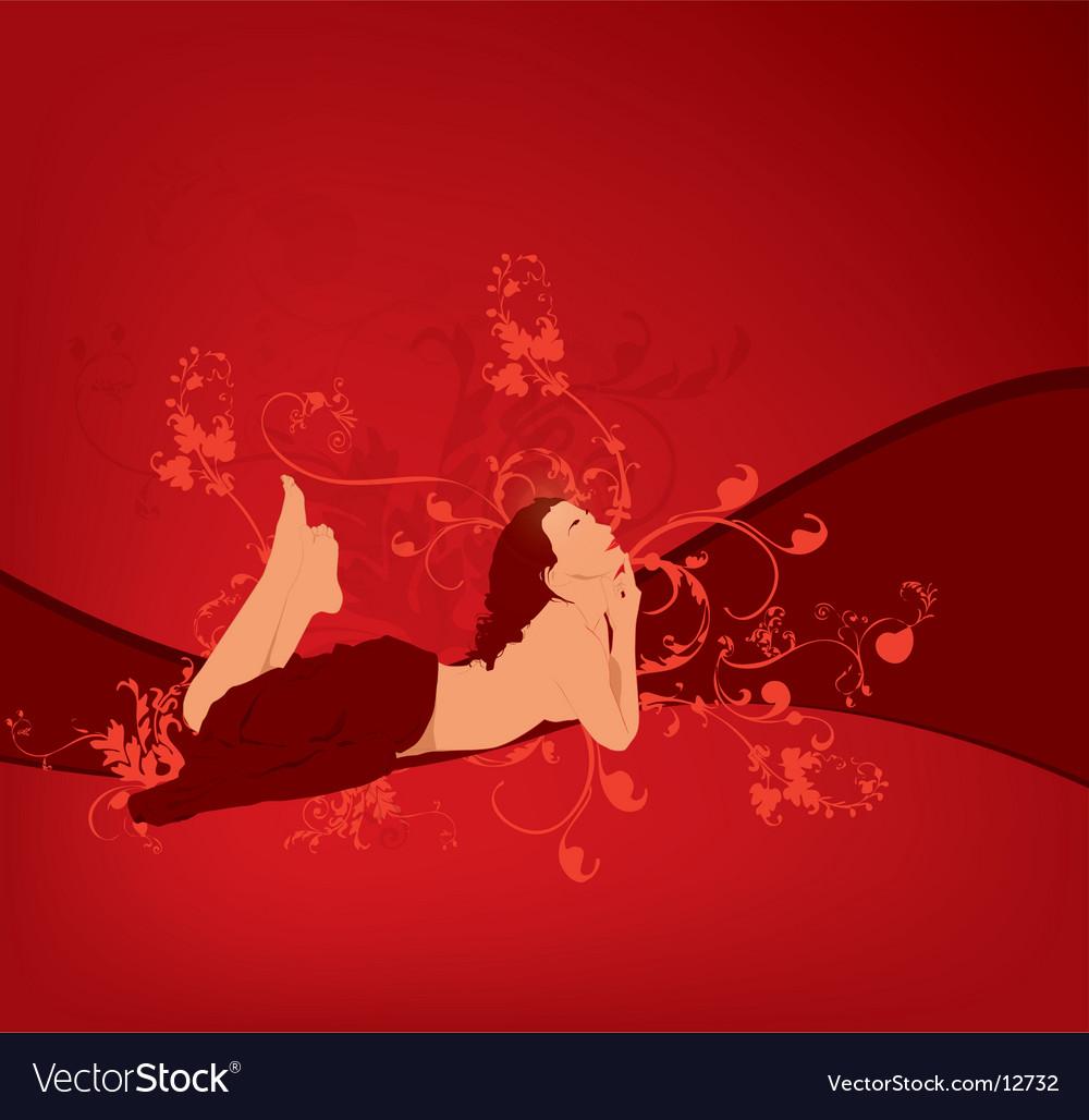 Women red vector