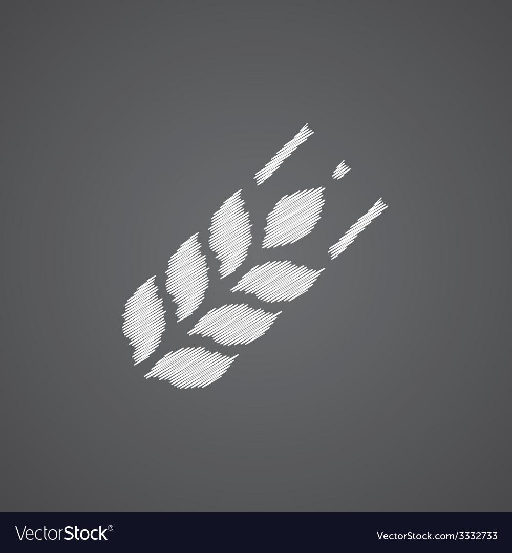 Agriculture sketch logo doodle icon vector