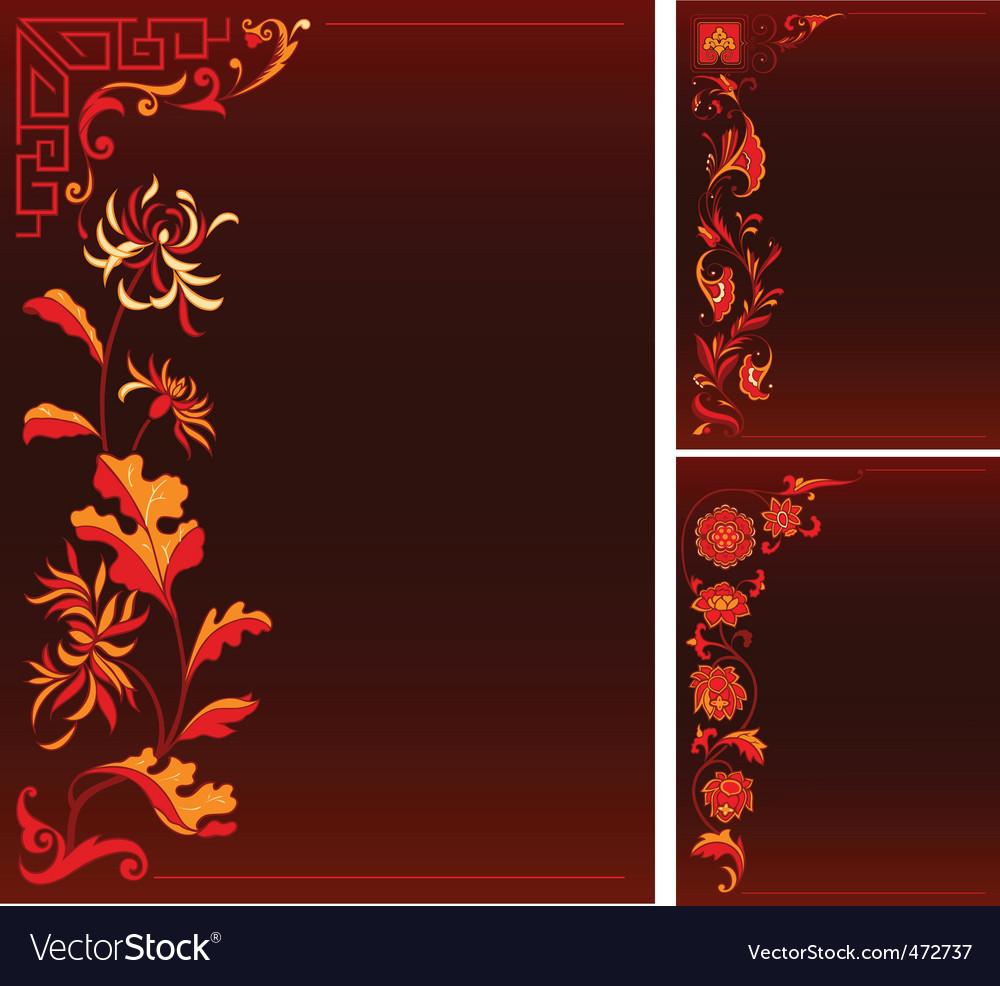 Floral decor vector