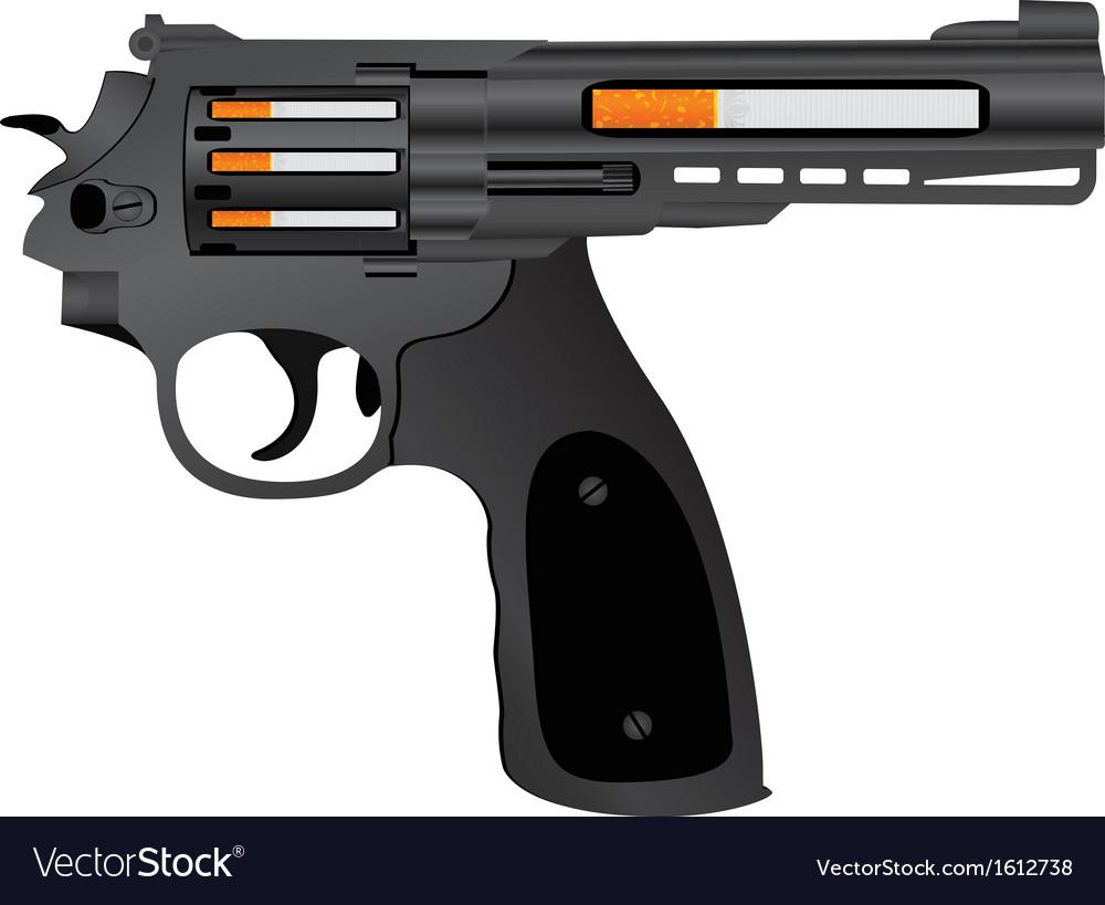 Cigarettes pistol vector