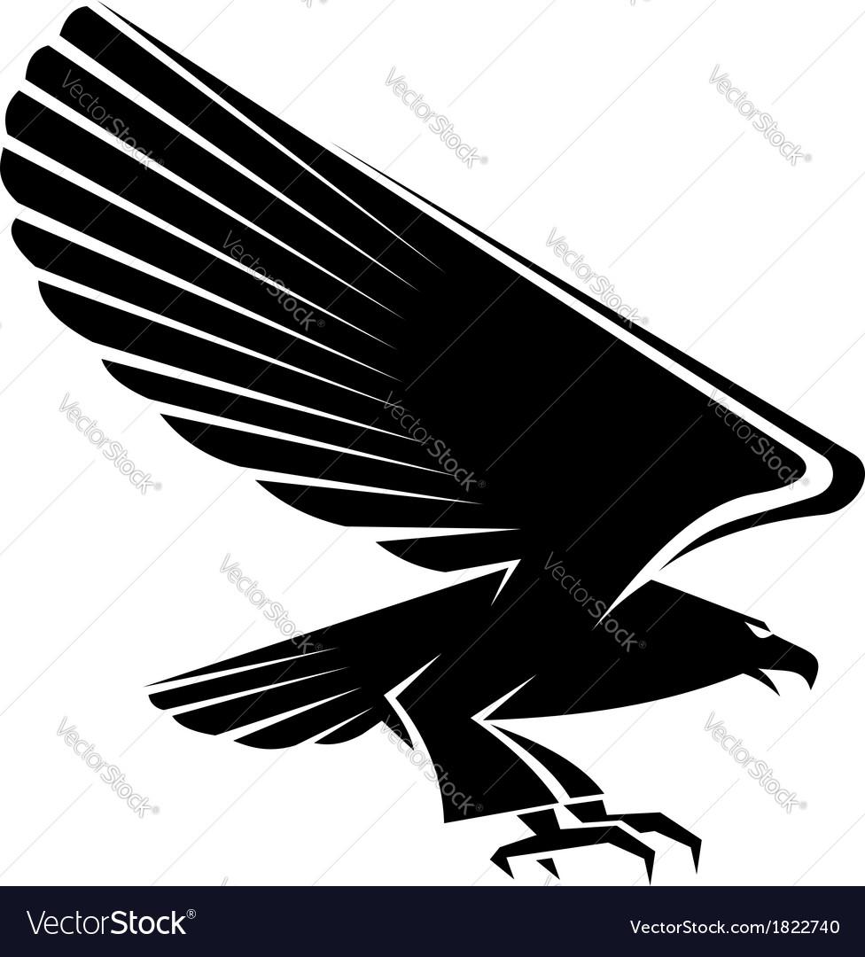 Black eagle tattoo vector