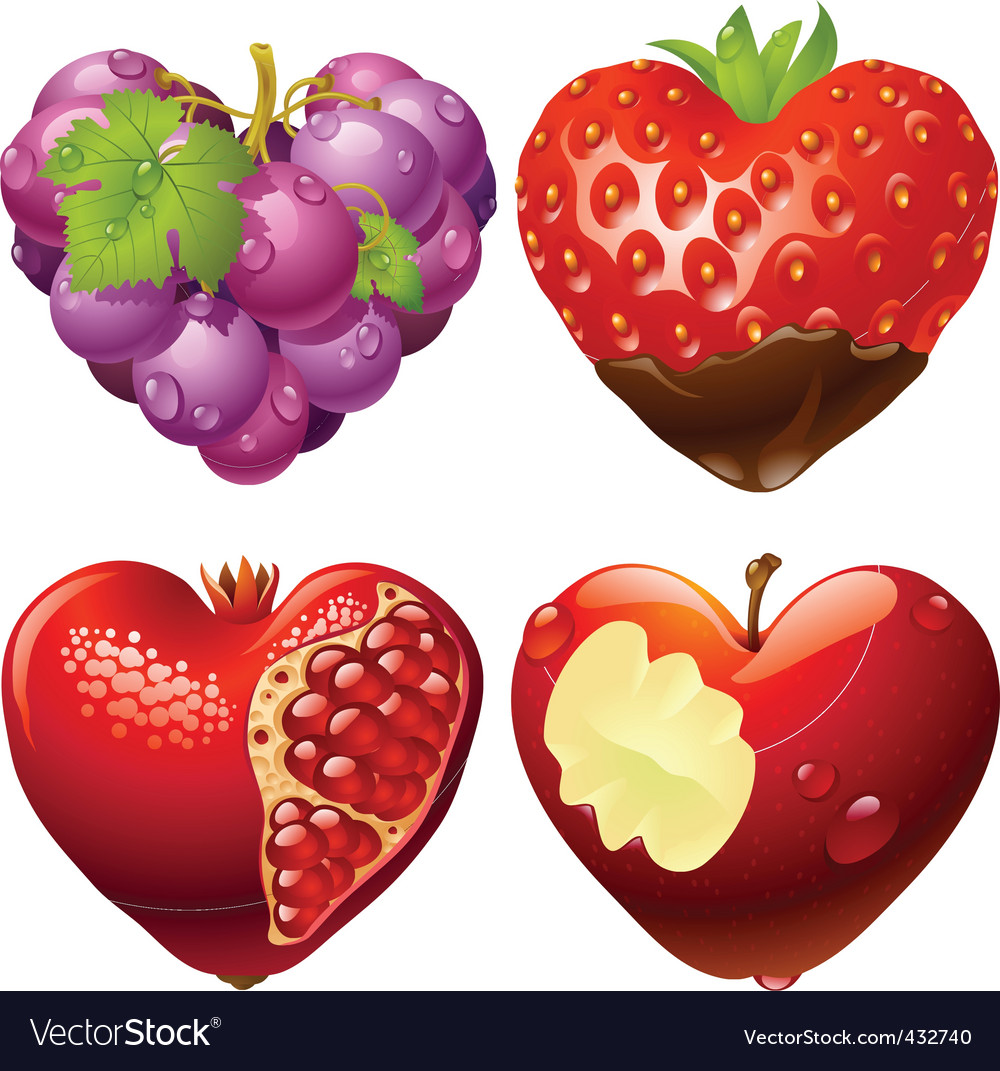 Shape of heart set 2 vector