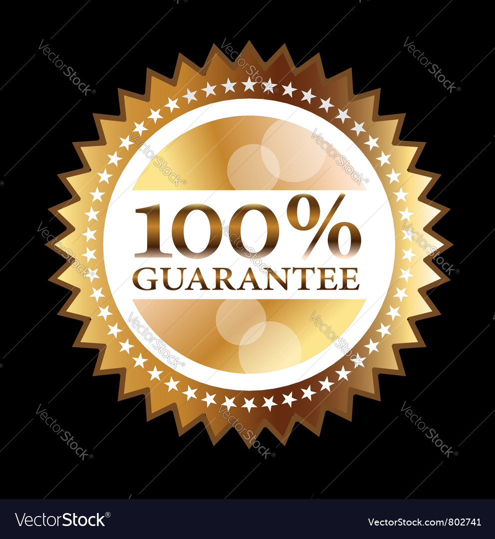Guarantee seal vector