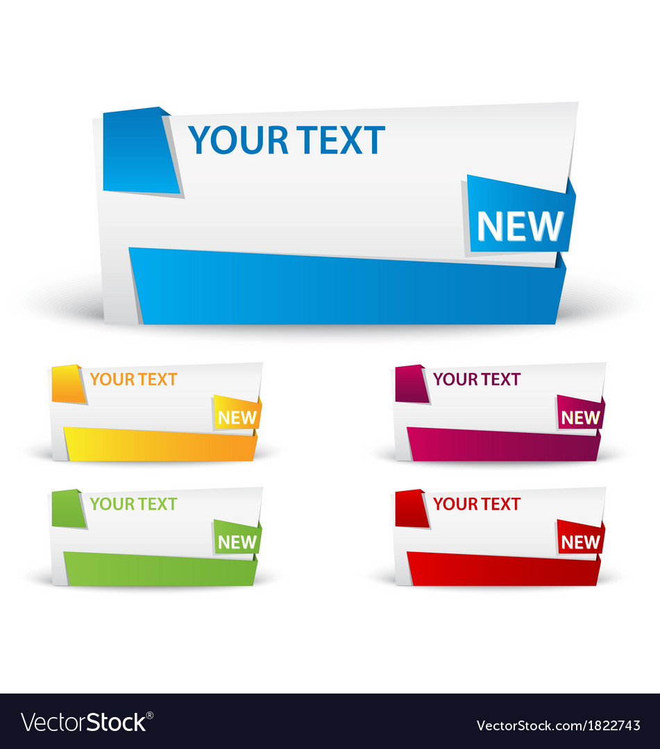 Banner with ribbon vector