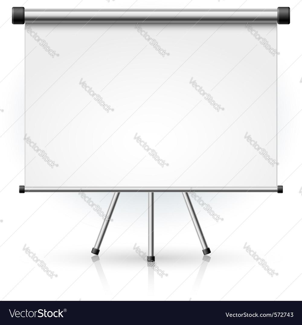 Blank portable projection screen vector