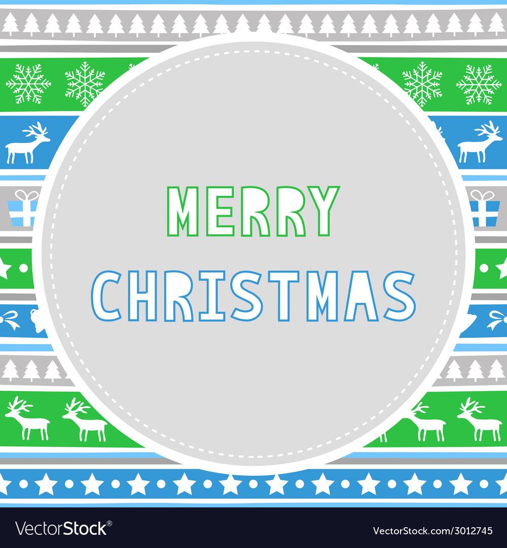 Merry christmas greeting card27 vector
