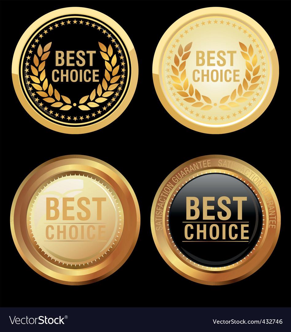 Best choice emblem vector