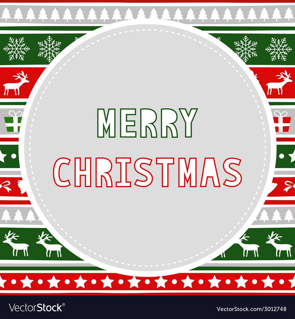 Merry christmas greeting card28 vector