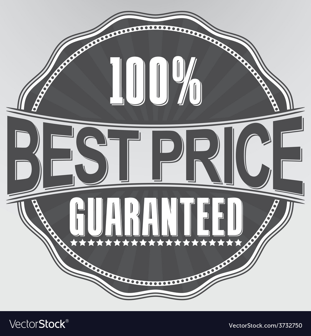 Best price guaranteed retro label vector