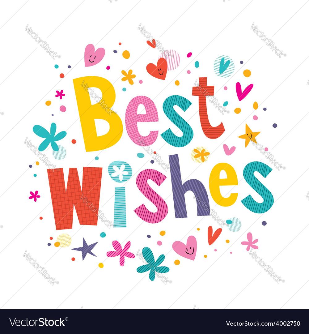 Best wishes vector