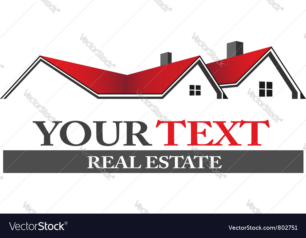 Real estate houses vector