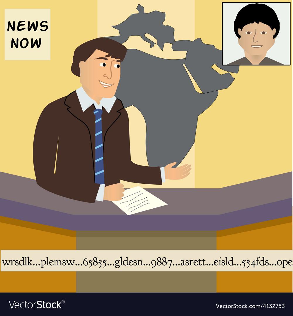 Tv news anchor vector