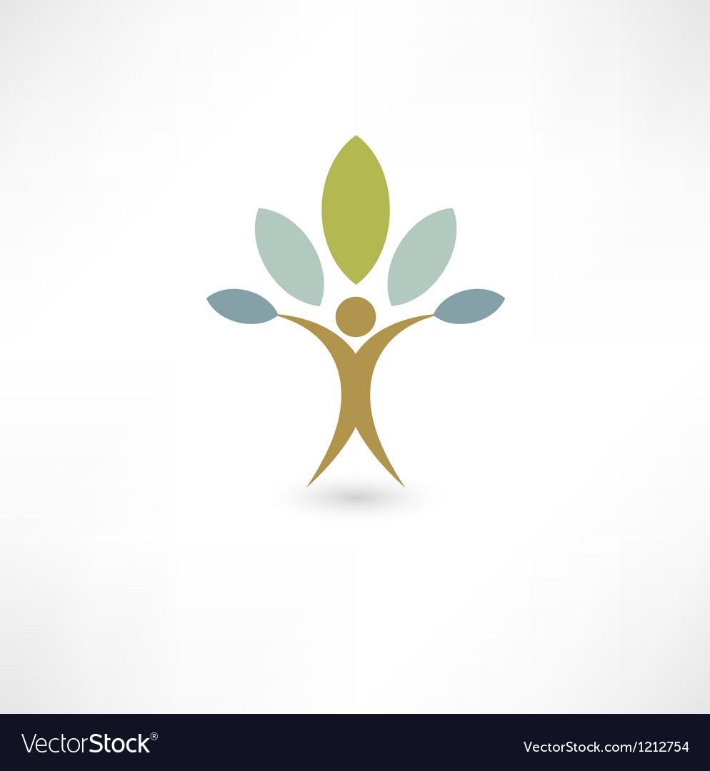 Eco people vector