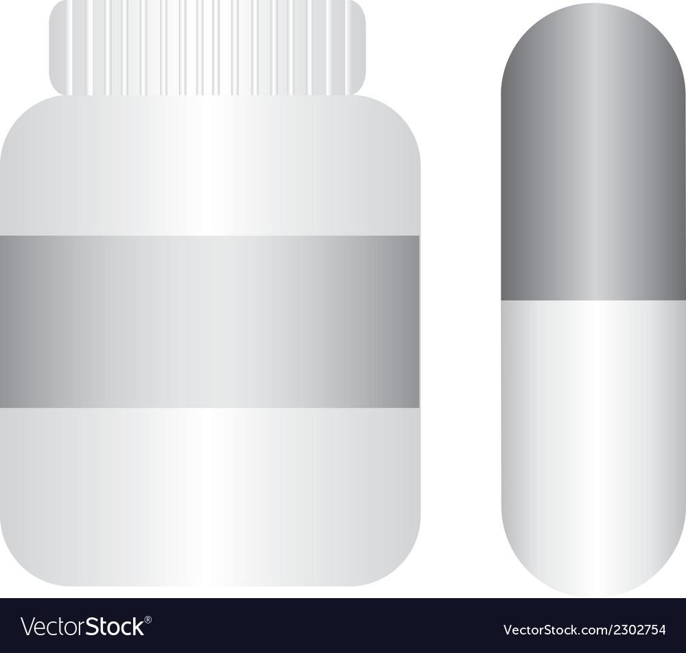 Pills with bottle vector