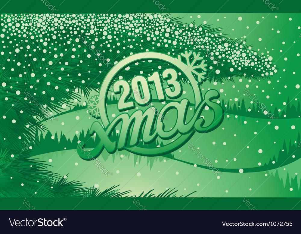 New year holiday inscription xmas in retro style vector