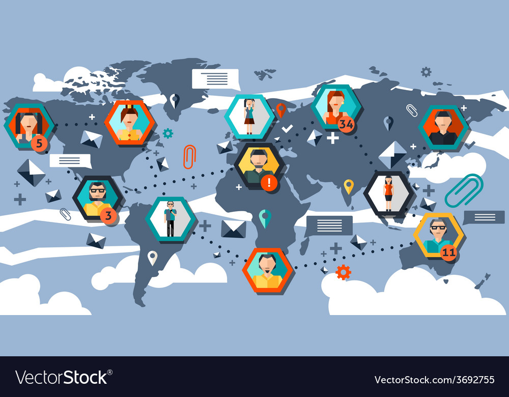 Social network infographics vector