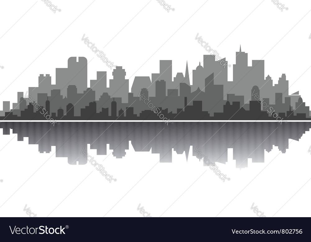 City silhouette vector