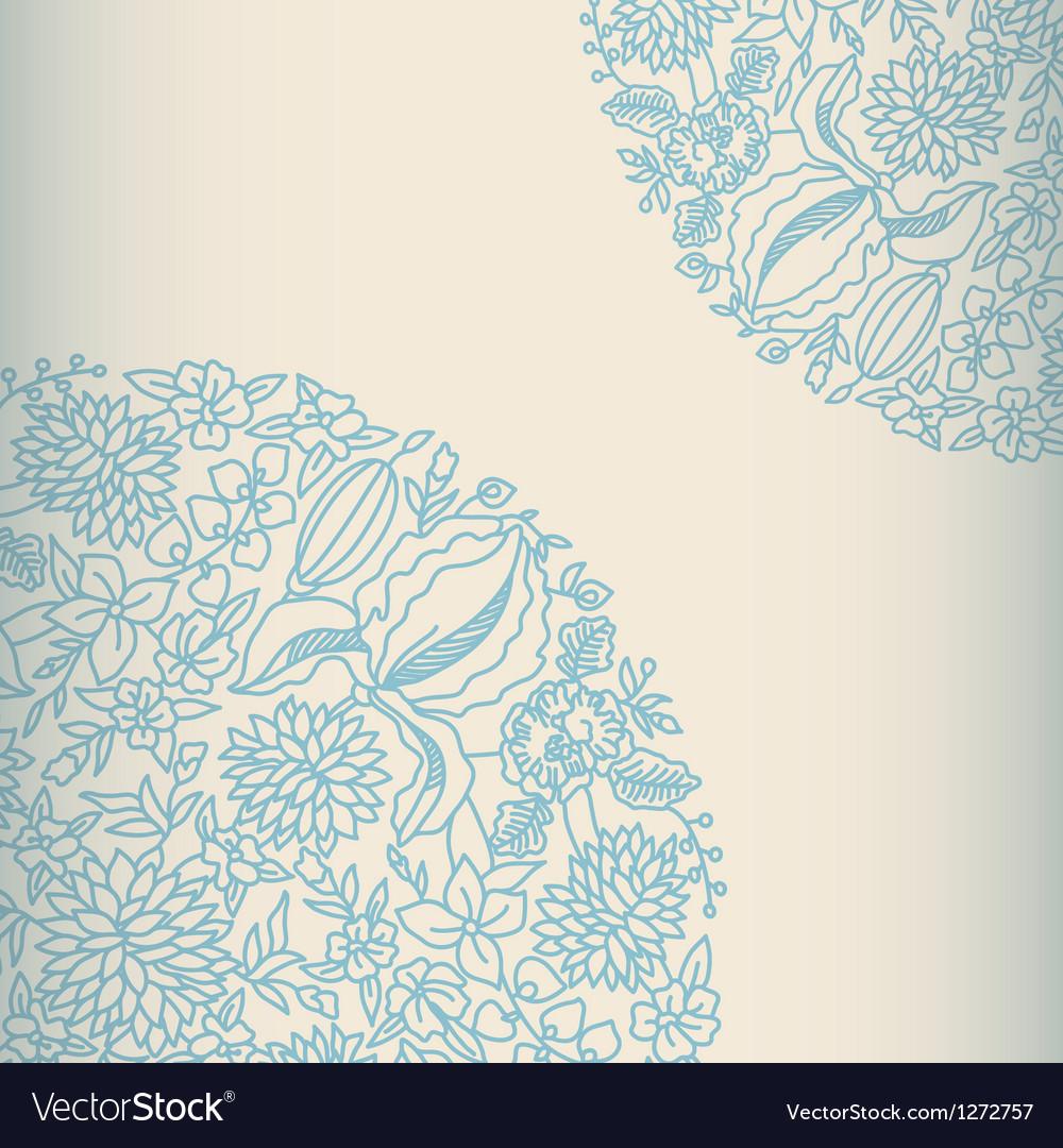Light ornamental card vector