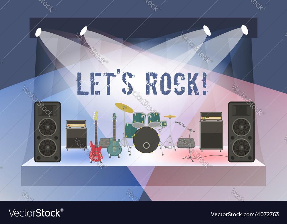 Rock concert stage vector