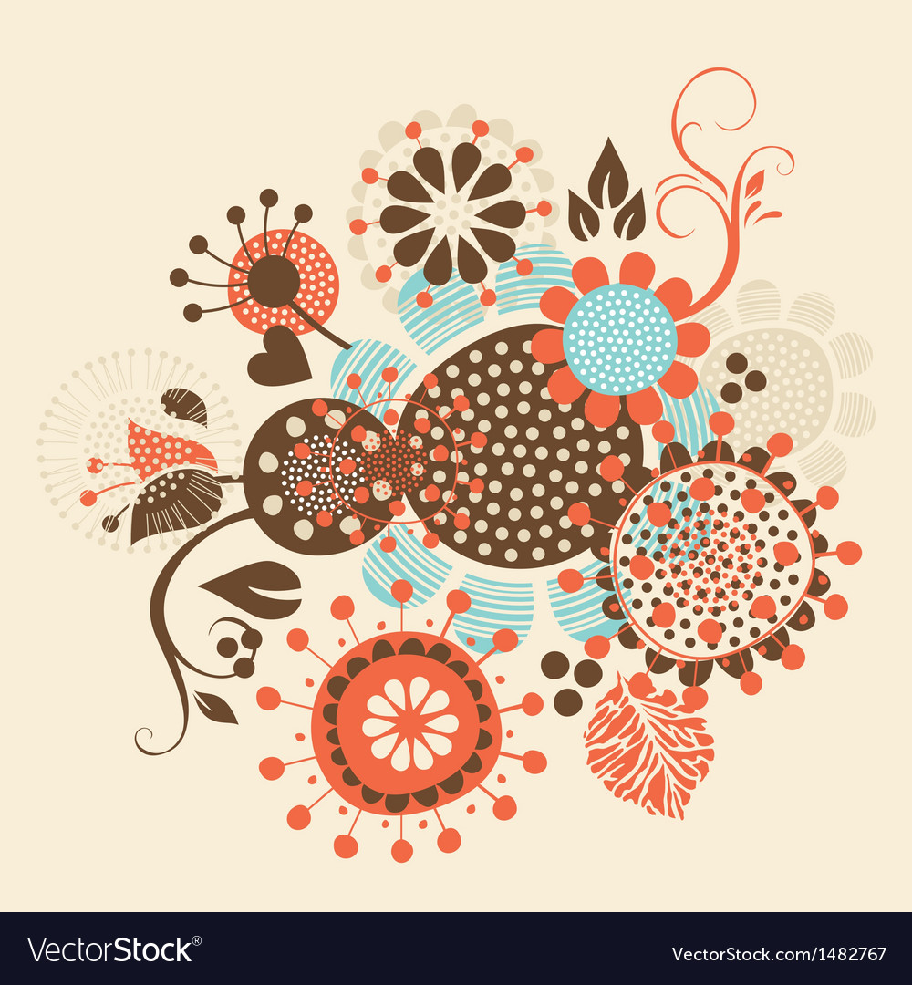 Floral decorative bouquet vector