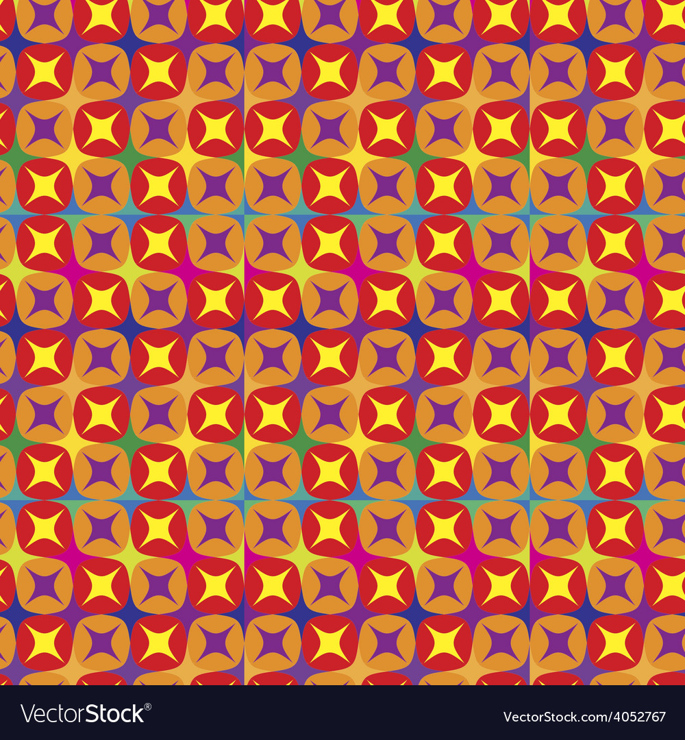 Seamless pattern in warm tones vector
