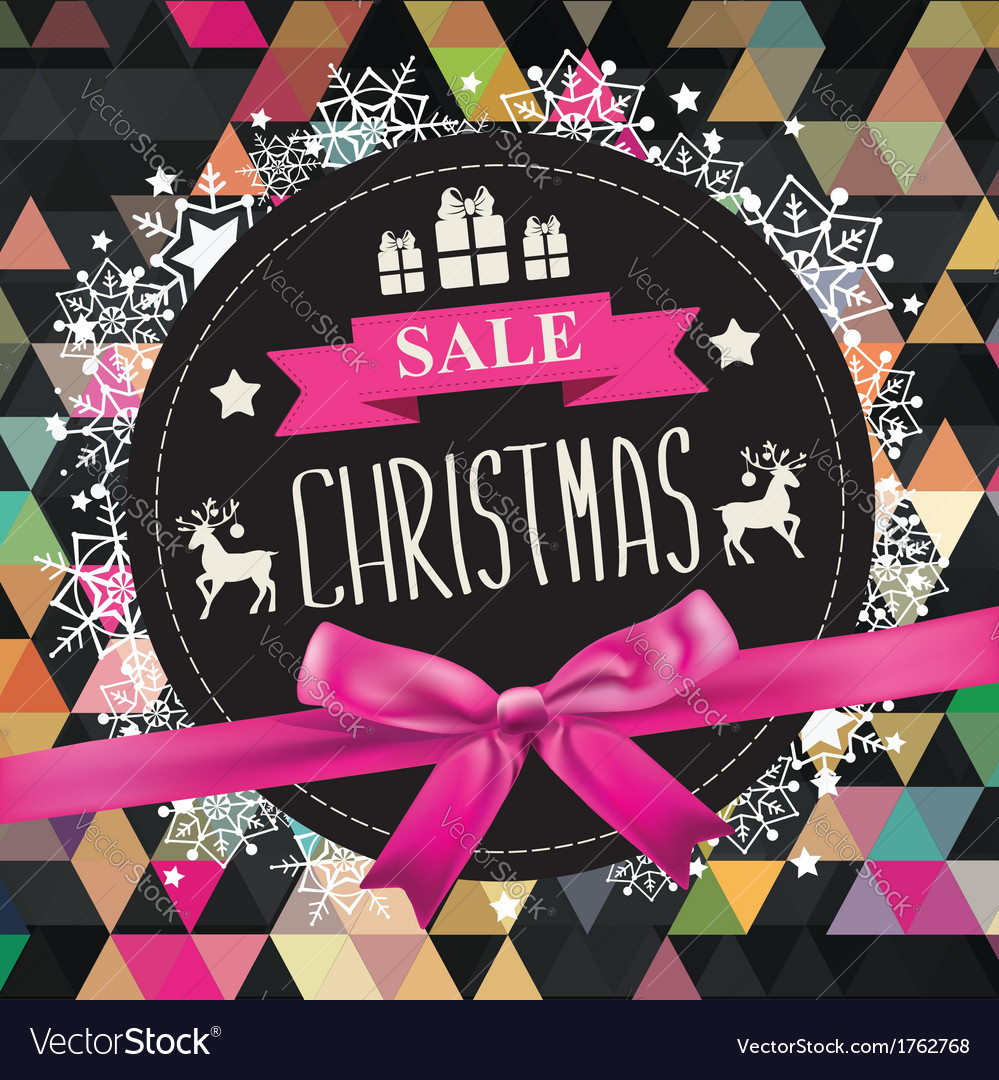 Retail christmas sign vector