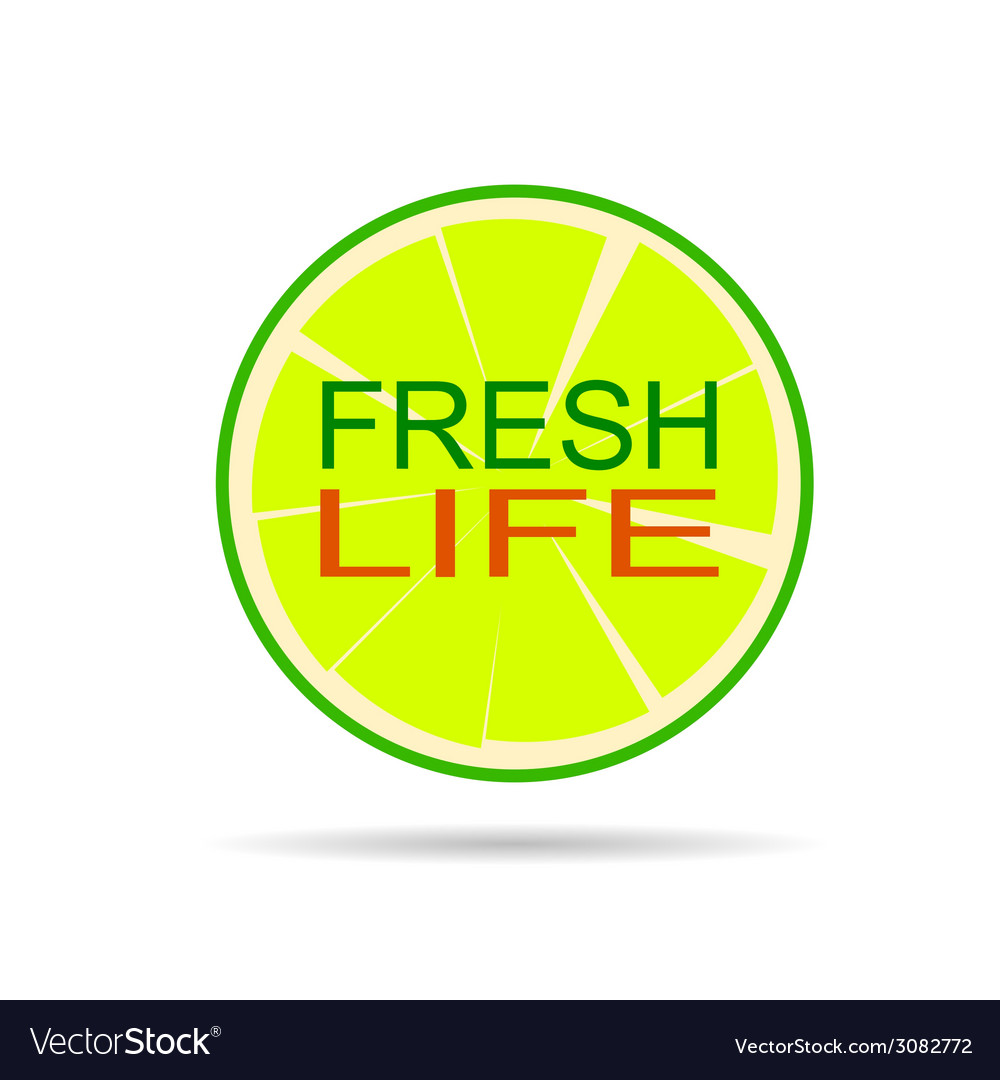 Lime with message vector