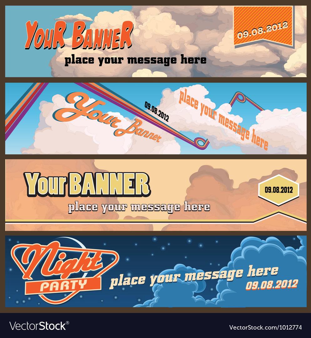 Sky banners vector
