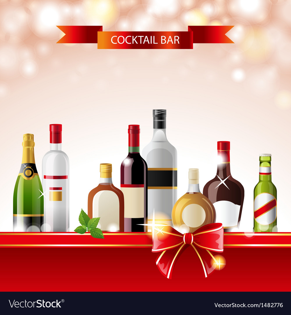 Cocktail bar vector