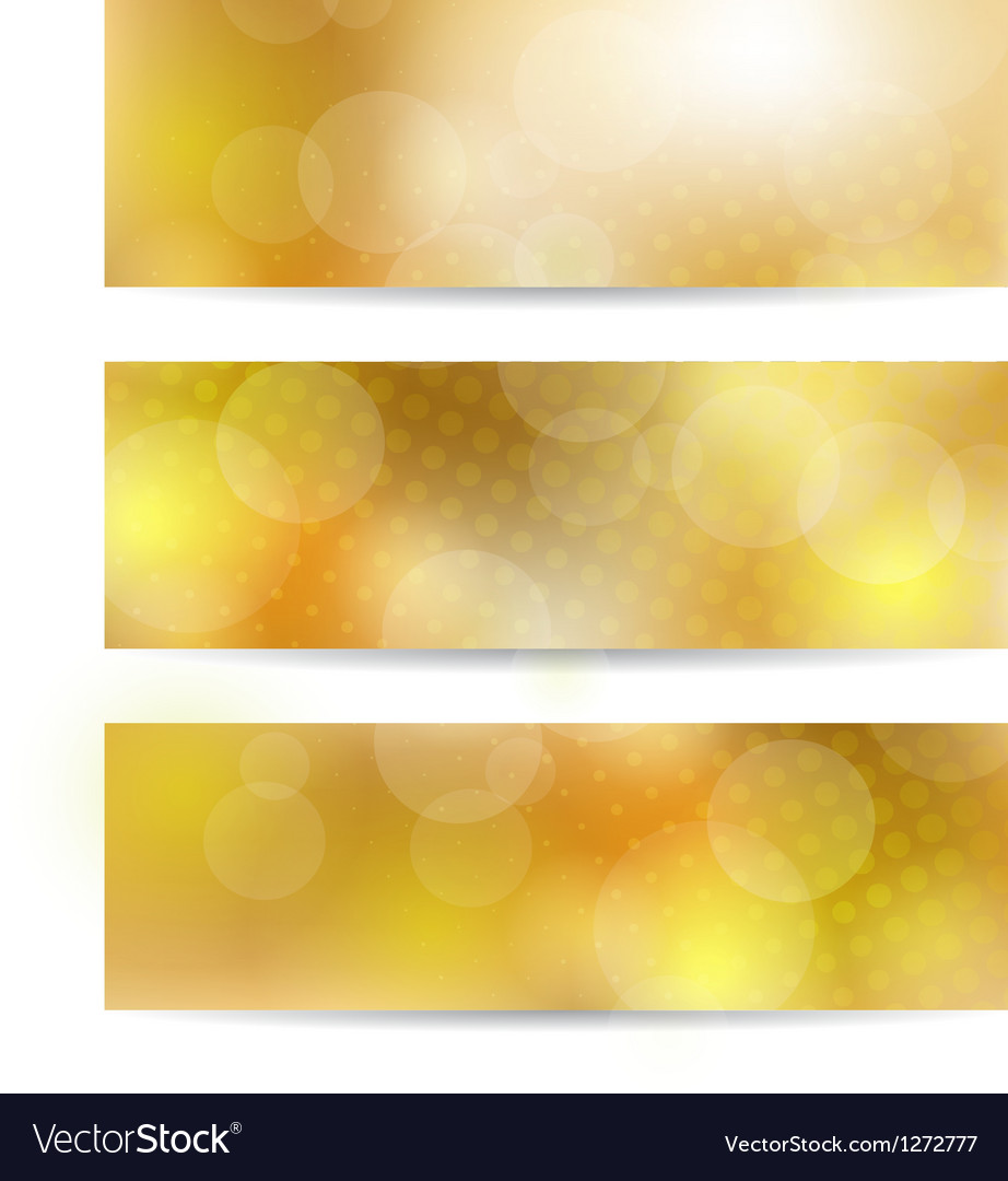 Yellow banner set vector