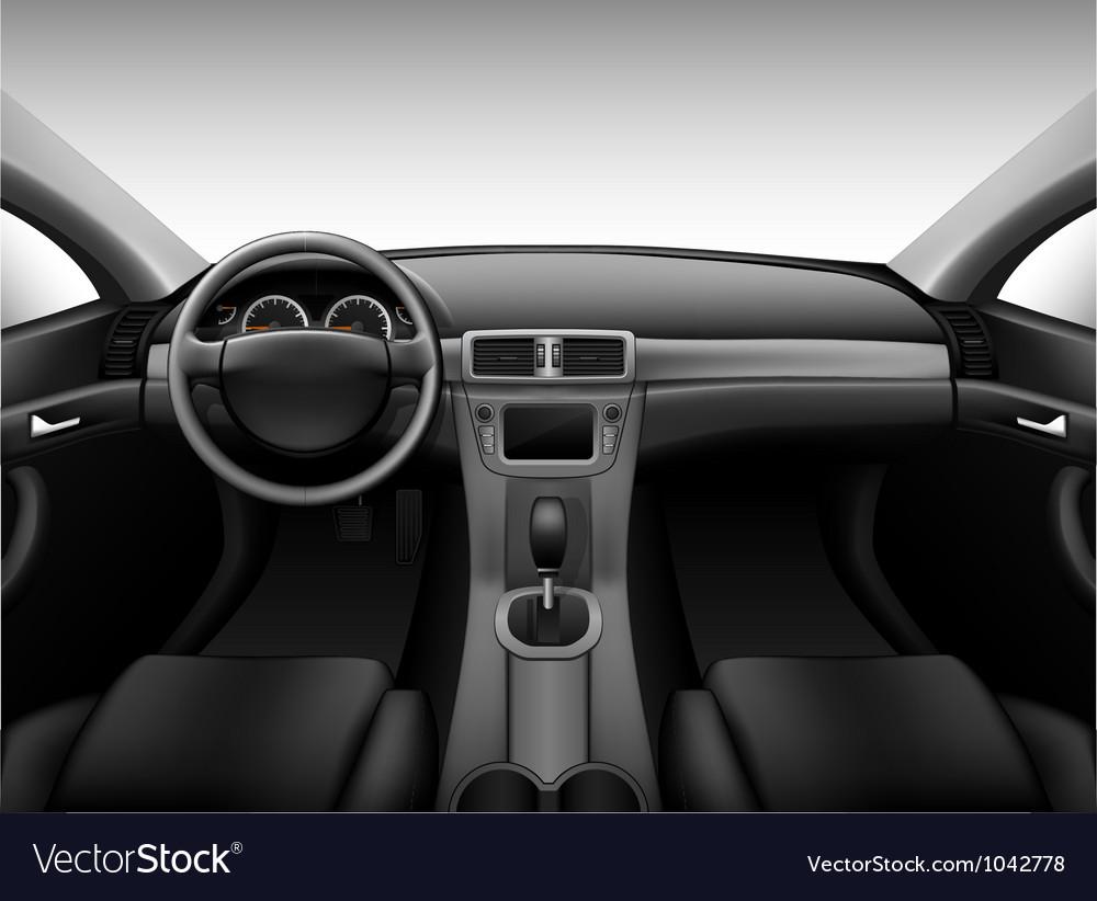 Dashboard - car interior vector