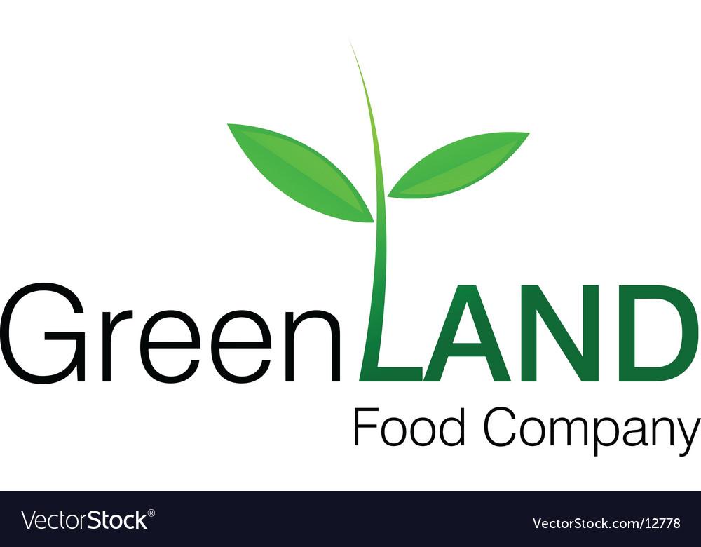 Green land logo vector