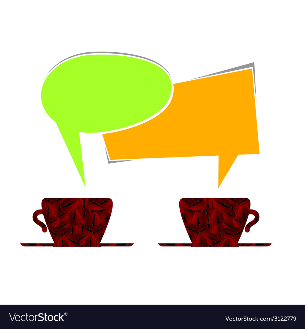 Coffee cup with message note vector