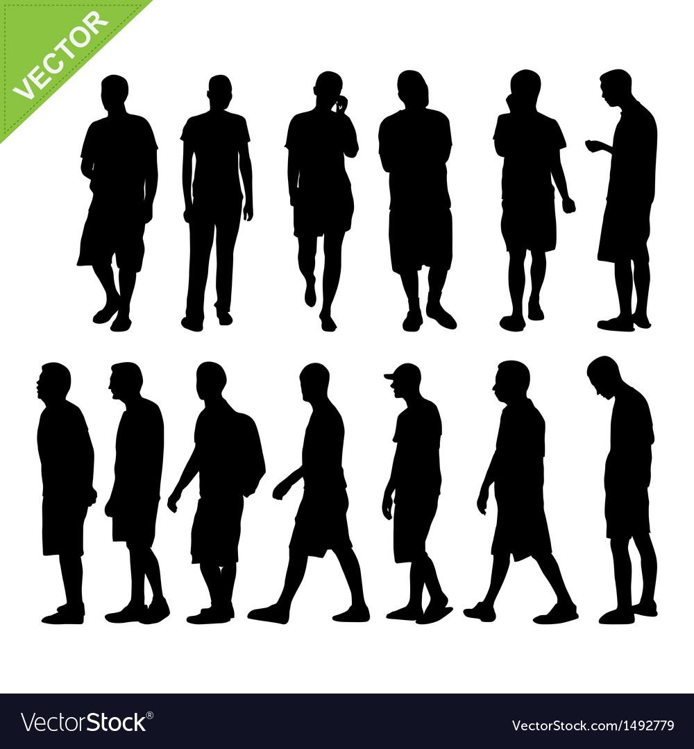 Men silhouettes vector