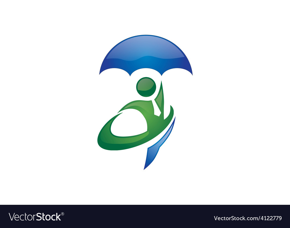 People secure insurance business logo vector