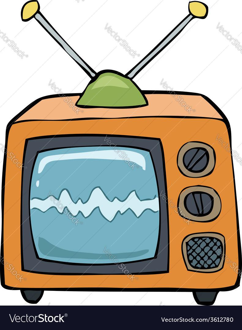 Orange tv vector