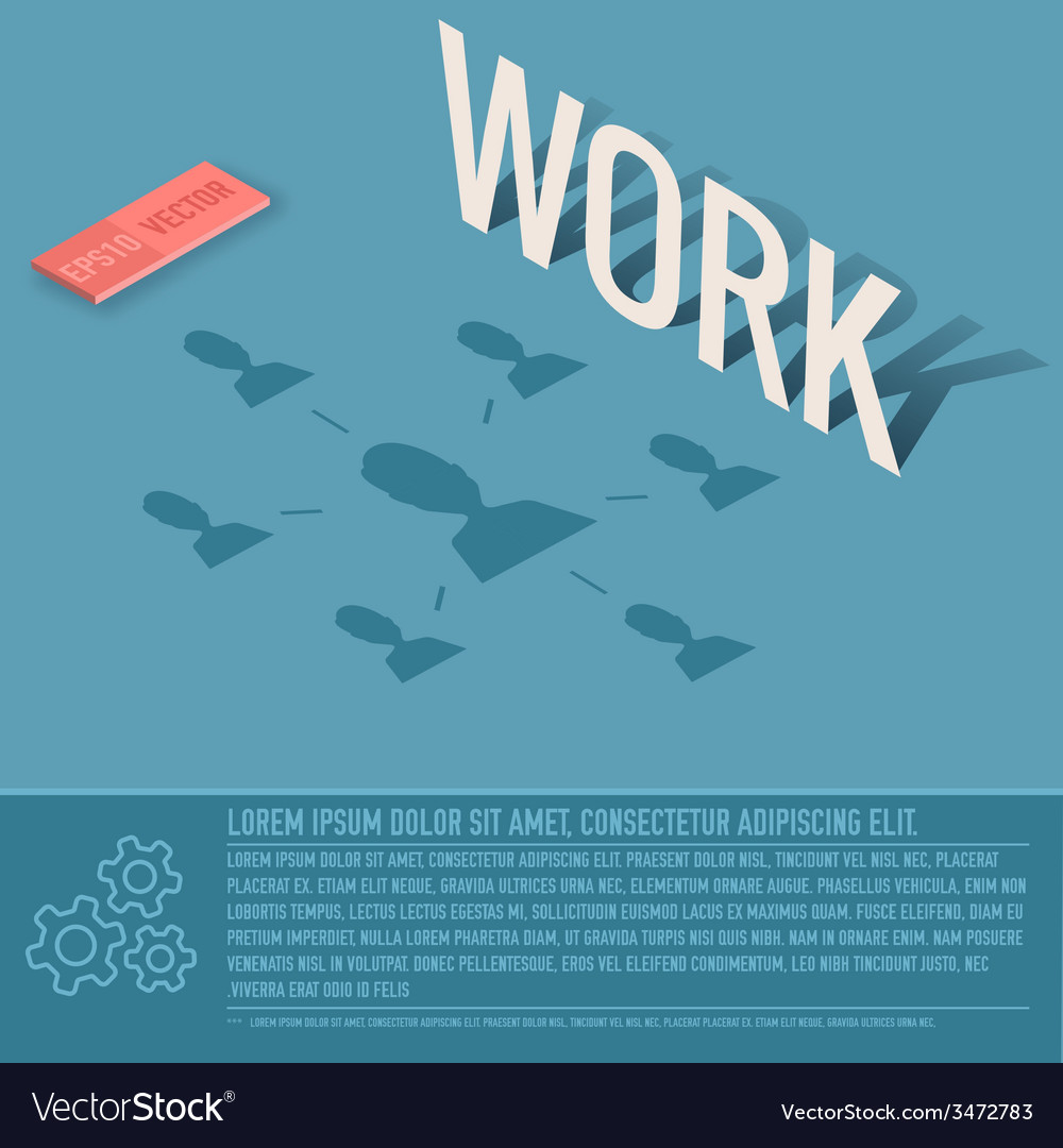 Work business background concept design vector