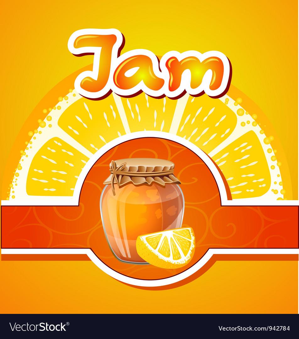 Lemon jam vector