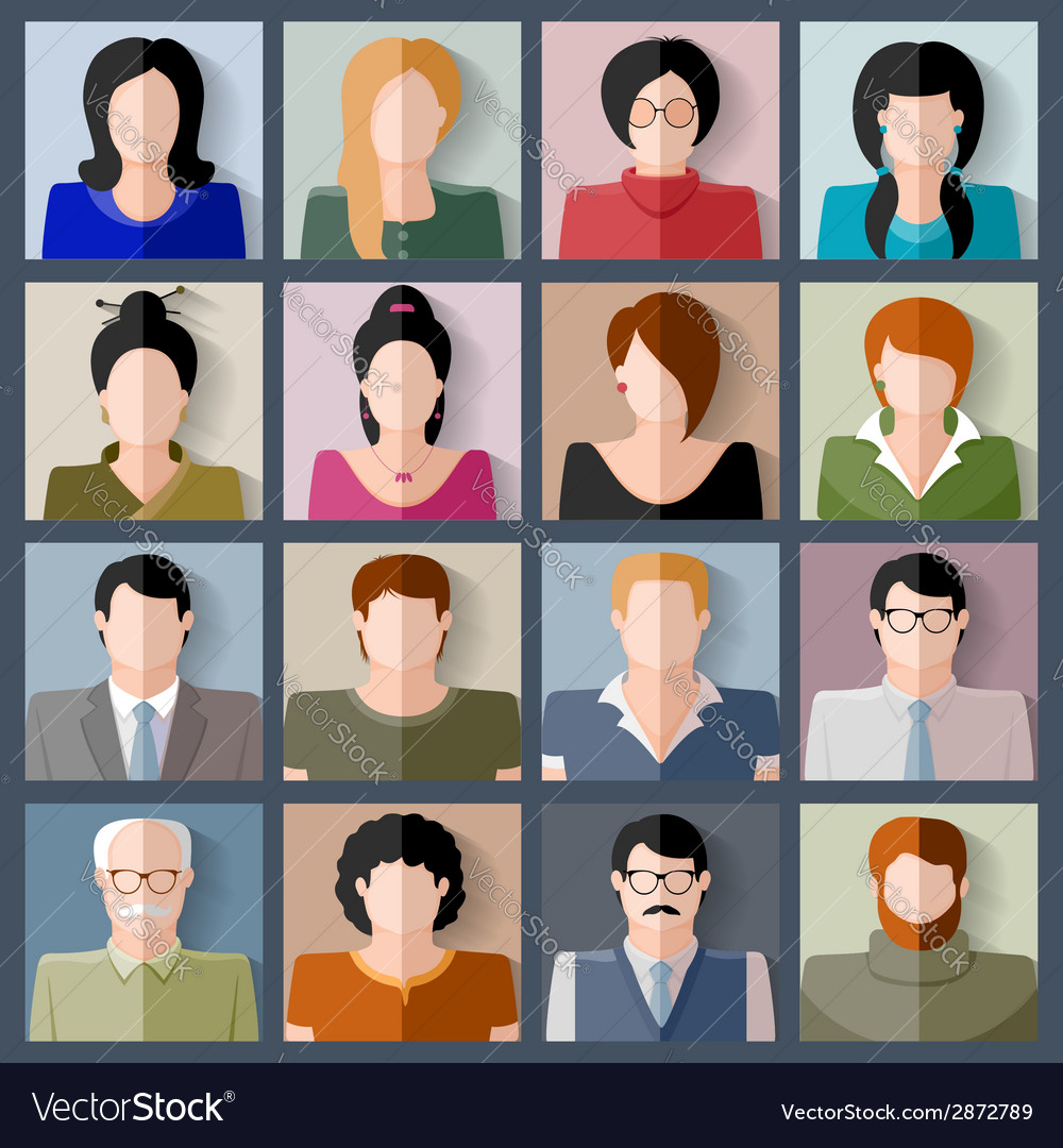 People icon set vector