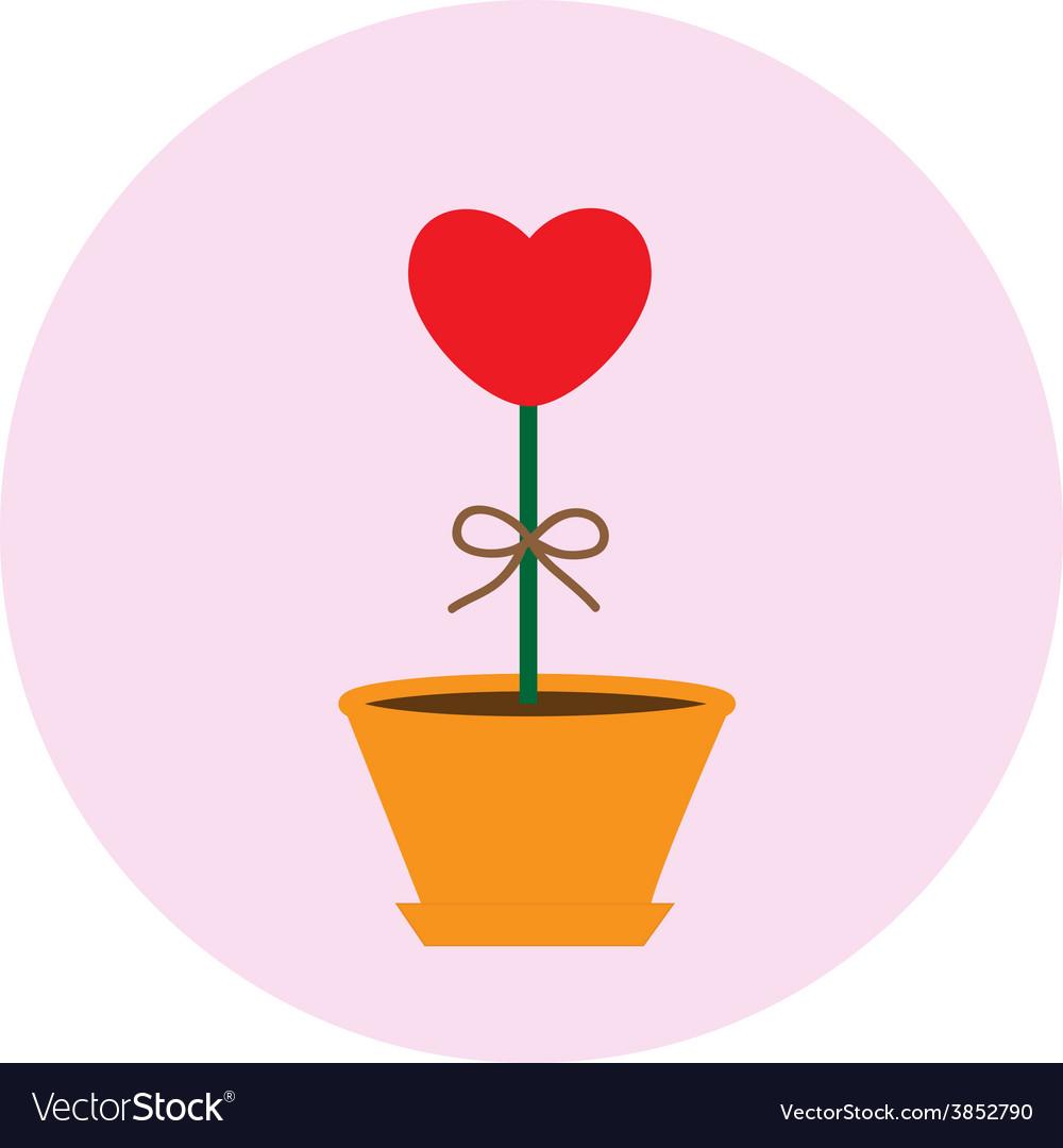 Heart pot symbol vector