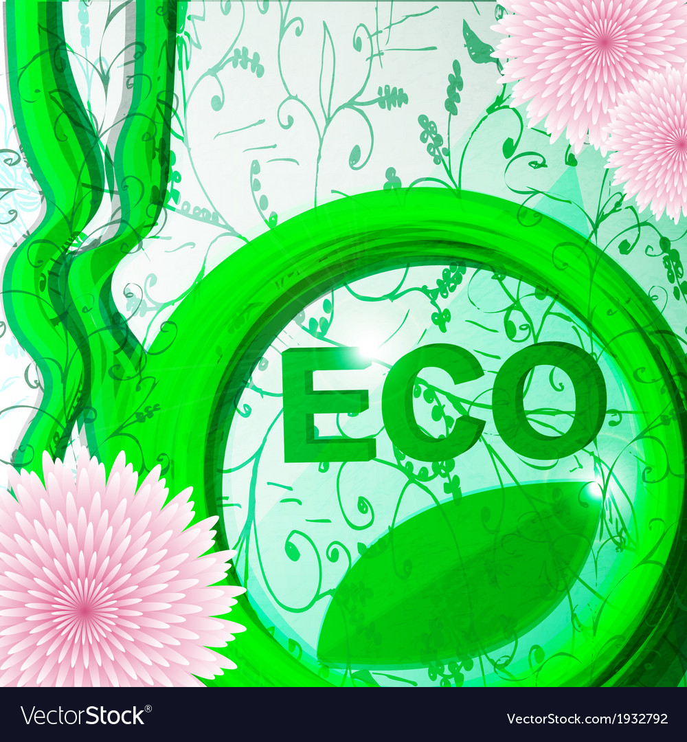 Eco-friendly abstract swirl vector