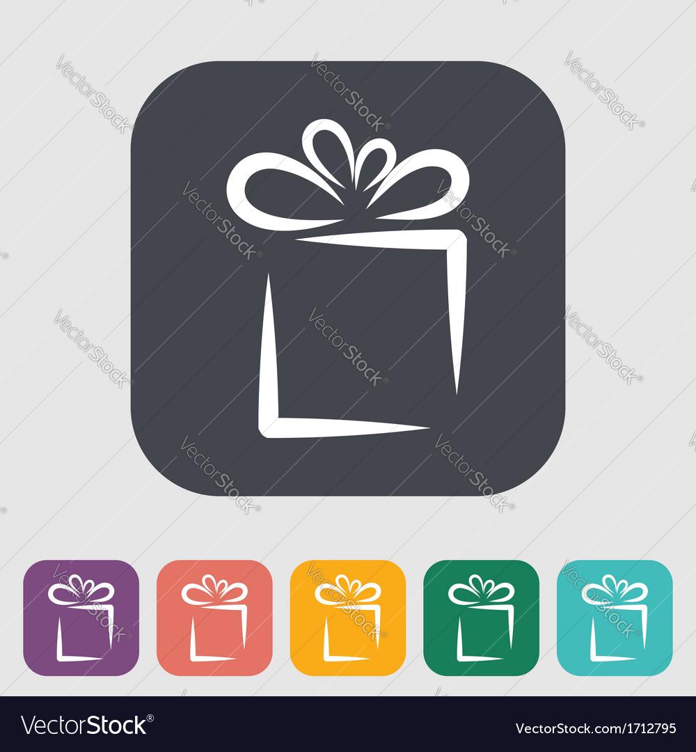 Christmas with gift box vector
