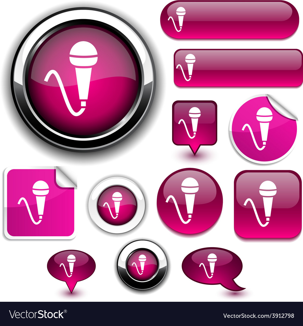 Mic signs vector