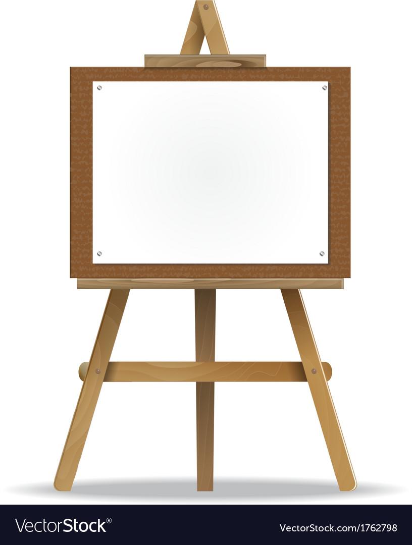 White canvas on an easel vector