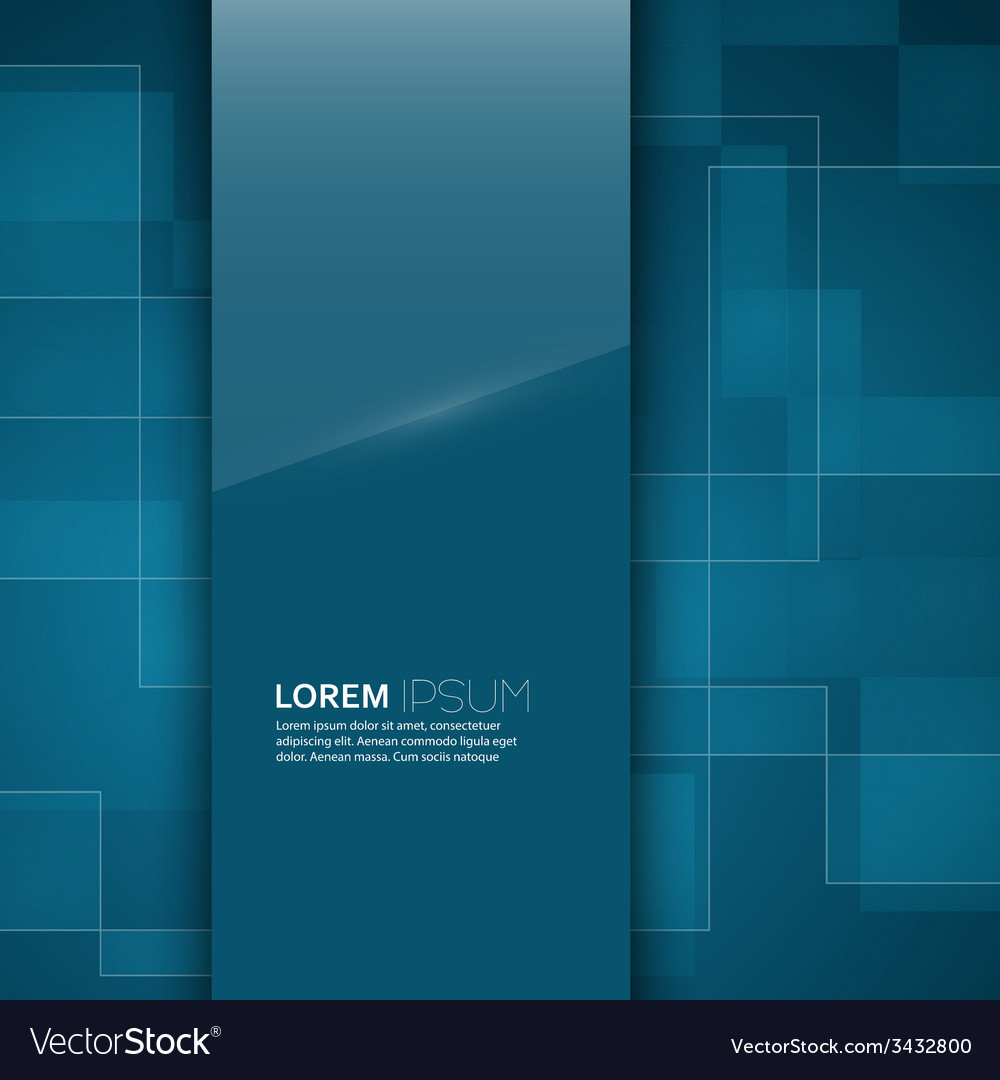 Turquoise glossy blank with a background texture vector
