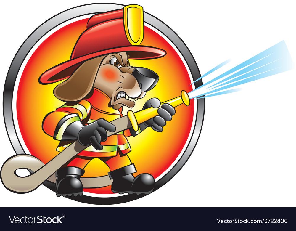 Urban firefighter vector