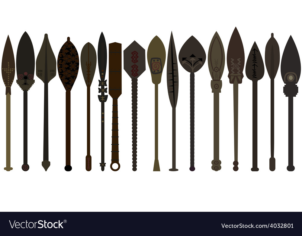 Set of wooden paddles vector
