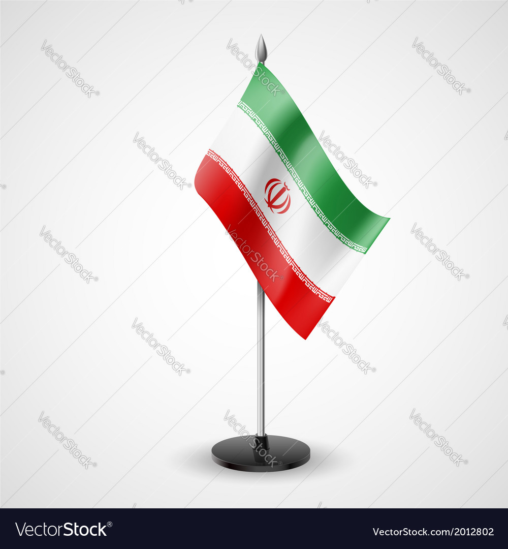 Table flag of iran vector